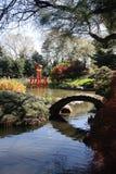 Giardino giapponese dello Collina-e-stagno ai giardini botanici di Brooklyn Immagini Stock Libere da Diritti