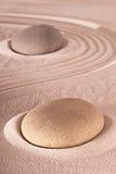Giardino giapponese di meditazione della pietra di zen Fotografia Stock