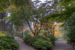 Giardino giapponese di Portland nella caduta immagini stock