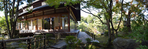 Giardino giapponese di Yoshikien, Nara, Giappone Immagini Stock