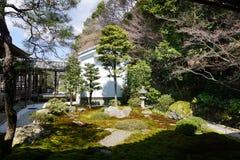 Giardino giapponese di zen in tempio di Nanjenji, Kyoto Fotografie Stock