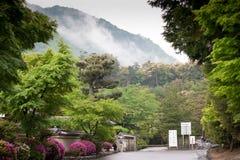 Giardino giapponese a Kyoto, Giappone Fotografia Stock Libera da Diritti