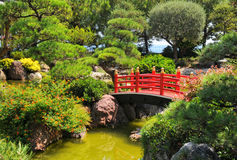 Giardino giapponese a Monte Carlo, Monaco Fotografie Stock Libere da Diritti