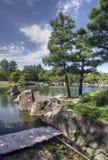 Giardino giapponese, Nagoya, Giappone fotografie stock