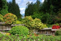 Giardino giapponese nei giardini del butchart fotografia stock libera da diritti