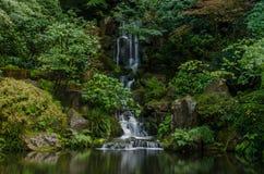 Giardino giapponese a Portland Immagini Stock Libere da Diritti