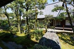 Giardino giapponese in tempio di Daigoji, Kyoto Immagine Stock Libera da Diritti