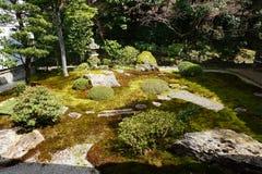 Giardino giapponese in tempio di Nanjenji, Kyoto Immagini Stock