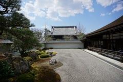 Giardino giapponese in tempio di Nanjenji, Kyoto Fotografia Stock Libera da Diritti