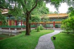 Giardino giapponese tradizionale Fotografia Stock Libera da Diritti