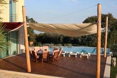 Giardino idilliaco in Istria, Croazia fotografia stock