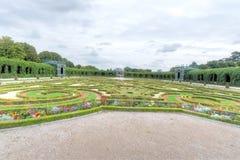 Giardino informato, palazzo di Schonbrunn Fotografia Stock