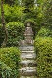 Giardino Kyoto di an-ji del  di RyÅ della statua di Buddha Fotografie Stock Libere da Diritti