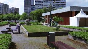 Giardino lilla a Mosca video d archivio