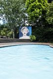 Giardino modernista Hamilton Gardens New Zealand NZ immagine stock libera da diritti