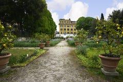 Giardino nella galleria Borghese Roma Ital Fotografie Stock