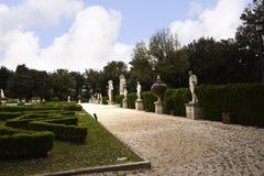 Giardino nella galleria Borghese Roma Ital Fotografie Stock Libere da Diritti
