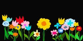 Giardino nero di colore Fotografia Stock Libera da Diritti
