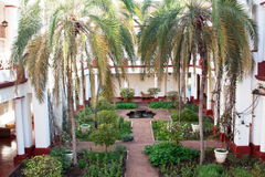 Giardino orizzontale dell'hotel del victorian Immagini Stock Libere da Diritti
