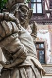 Giardino ornamentale del castello di Peles, Sinaia, Romania Punto di riferimento dell'automobile fotografie stock libere da diritti