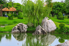 Giardino ornamentale, un posto perfetto Fotografie Stock Libere da Diritti