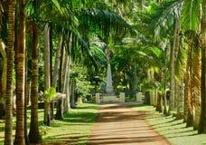 Giardino pittoresco di Pamplemousse in Mauritius Republic Immagine Stock Libera da Diritti