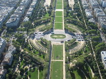 Giardino progettato a Parigi Fotografie Stock
