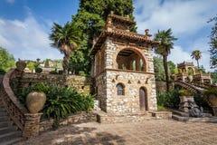 Giardino pubblico antico della villa Comunale in Taormina, Sicilia fotografie stock