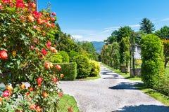 Giardino pubblico della villa Taranto in Italia fotografia stock