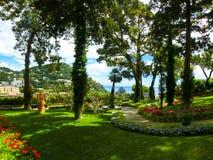 Giardino pubblico di Bautiful nell'isola di Capri Immagine Stock