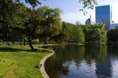 Giardino pubblico di Boston Immagini Stock Libere da Diritti