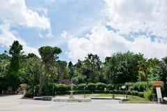 Giardino pubblico nel centro di Chieti (Italia) fotografie stock