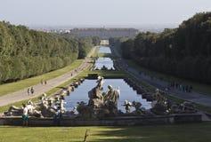 Giardino reale del palazzo di Caserta Fotografia Stock Libera da Diritti