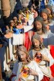 Giardino religioso statuario Fotografia Stock Libera da Diritti