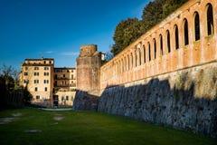 Giardino Scotto i Pisa - offentliga trädgårdar och parkerar, Italien Arkivbild