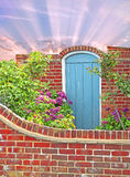 Giardino segreto murato Fotografie Stock