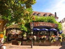 Giardino tradizionale Baden-Baden Germany della birra Immagini Stock