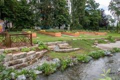 Giardino urbano nella città di Bayreuth Immagine Stock