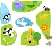 Giardino zoologico illustrazione vettoriale