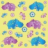 Giardino zoologico di divertimento hippos Immagini Stock Libere da Diritti