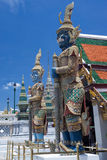 The giat at Wat Phra Kaew. Grand Palace Bangkok royalty free stock photos