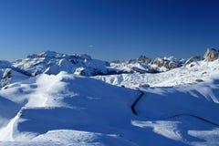 Giau Durchlauf-Dolomit Stockfoto