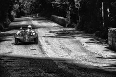 GIAUR 750 1950. PESARO, ITALY - MAY 15: old racing car in rally Mille Miglia 2015 the famous italian historical race 1927-1957 on May 15 2015 stock image