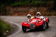GIAUR 750 S 1950. Mille miglia 2015 italy history vintage car retro royalty free stock photography