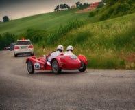 GIAUR 750 S 1950. Mille miglia 2015 italy history vintage car retro stock photo