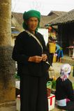 Giay ethnic woman. Woman Giay ethnic market Van.Région Dong Ha Giang. North Vietnam Royalty Free Stock Photos
