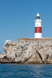 Gib lighthouse. Europa point lighthouse in gibraltar stock photos
