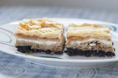 Gibanica Medimurska, κροατικό παραδοσιακό κέικ στοκ φωτογραφίες