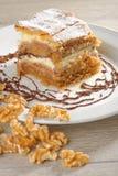 Gibanica - traditional slovene cake pie Stock Photos