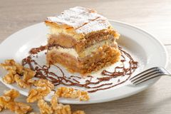 Gibanica - traditional slovene cake pie Royalty Free Stock Photo